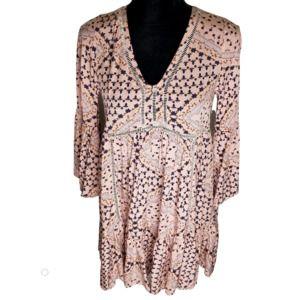 Anthro Jaase Liberty Tunic Boho Dress EUC